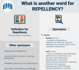 Repellency, synonym Repellency, another word for Repellency, words like Repellency, thesaurus Repellency