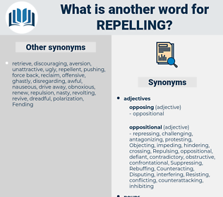 repelling, synonym repelling, another word for repelling, words like repelling, thesaurus repelling