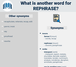 rephrase, synonym rephrase, another word for rephrase, words like rephrase, thesaurus rephrase