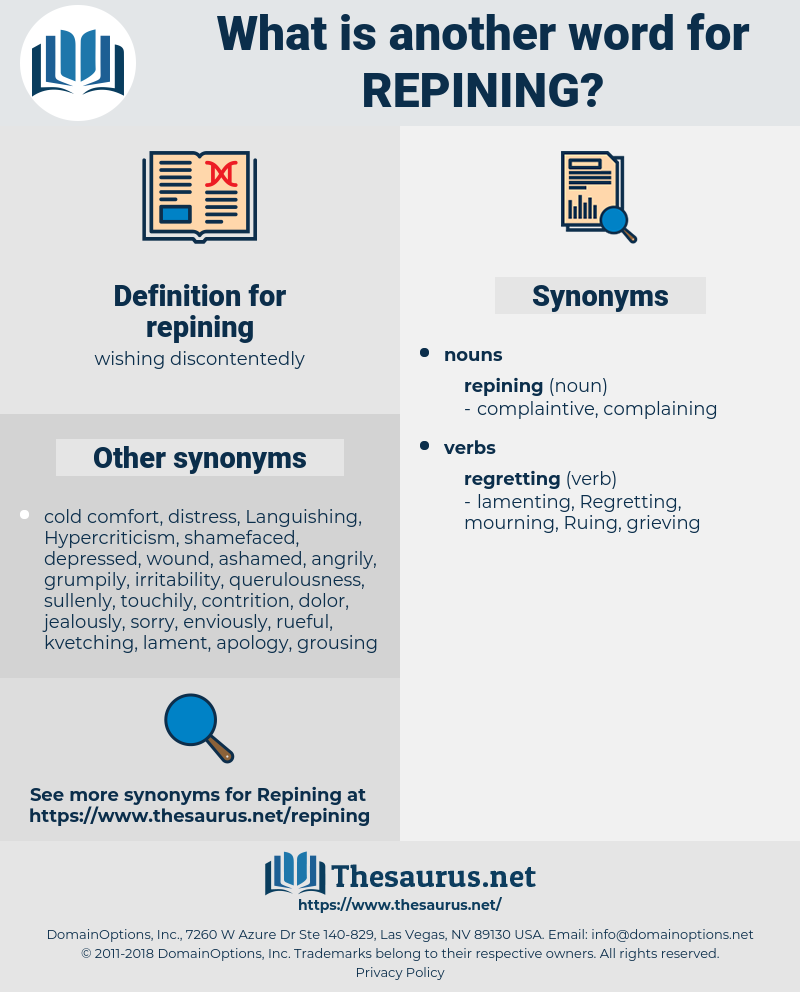 repining, synonym repining, another word for repining, words like repining, thesaurus repining