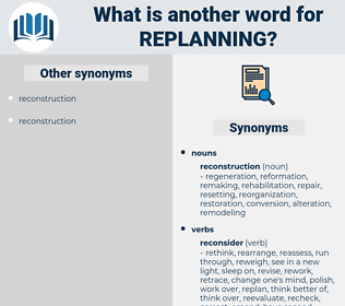 replanning, synonym replanning, another word for replanning, words like replanning, thesaurus replanning