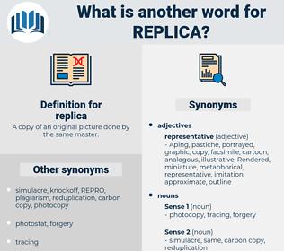 replica, synonym replica, another word for replica, words like replica, thesaurus replica