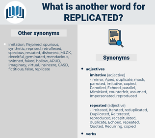 Replicated, synonym Replicated, another word for Replicated, words like Replicated, thesaurus Replicated