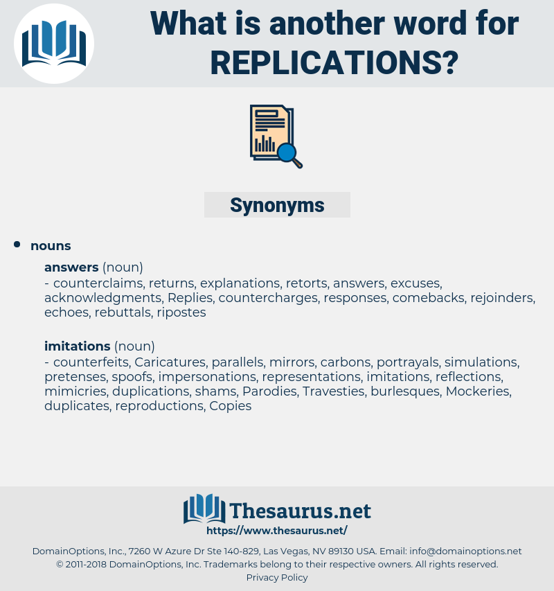 replications, synonym replications, another word for replications, words like replications, thesaurus replications