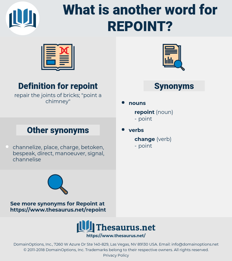 repoint, synonym repoint, another word for repoint, words like repoint, thesaurus repoint