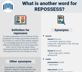 repossess, synonym repossess, another word for repossess, words like repossess, thesaurus repossess