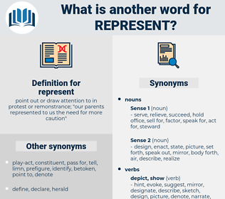 represent, synonym represent, another word for represent, words like represent, thesaurus represent