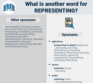 representing, synonym representing, another word for representing, words like representing, thesaurus representing