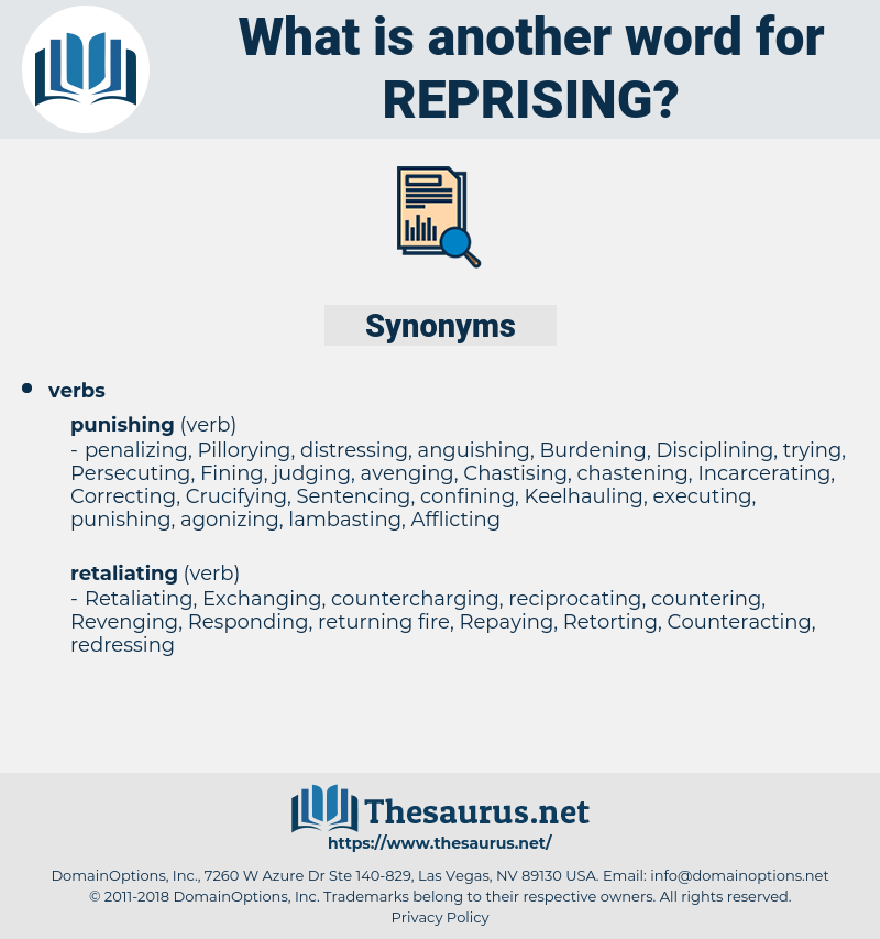 reprising, synonym reprising, another word for reprising, words like reprising, thesaurus reprising