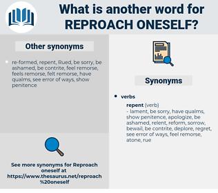 reproach oneself, synonym reproach oneself, another word for reproach oneself, words like reproach oneself, thesaurus reproach oneself
