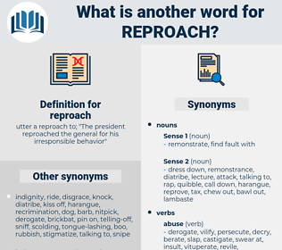reproach, synonym reproach, another word for reproach, words like reproach, thesaurus reproach