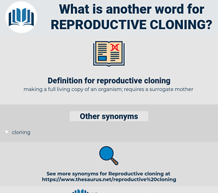 reproductive cloning, synonym reproductive cloning, another word for reproductive cloning, words like reproductive cloning, thesaurus reproductive cloning
