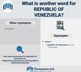 Republic Of Venezuela, synonym Republic Of Venezuela, another word for Republic Of Venezuela, words like Republic Of Venezuela, thesaurus Republic Of Venezuela
