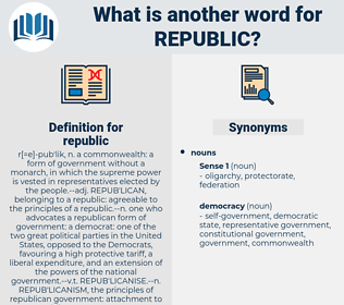 republic, synonym republic, another word for republic, words like republic, thesaurus republic