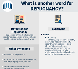 Repugnancy, synonym Repugnancy, another word for Repugnancy, words like Repugnancy, thesaurus Repugnancy