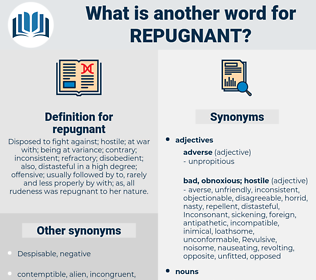 repugnant, synonym repugnant, another word for repugnant, words like repugnant, thesaurus repugnant