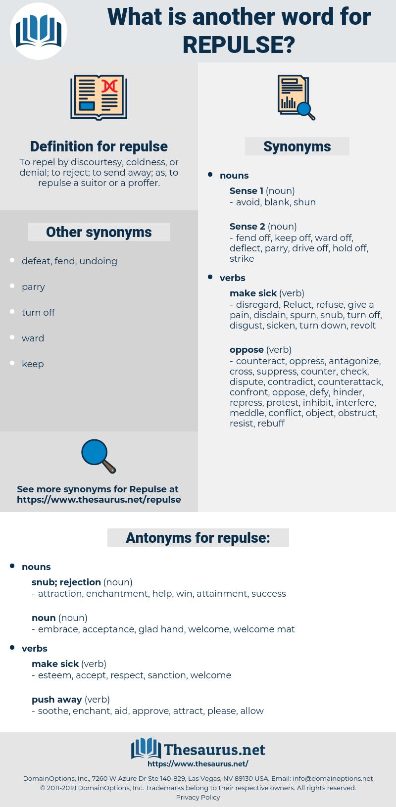 repulse, synonym repulse, another word for repulse, words like repulse, thesaurus repulse