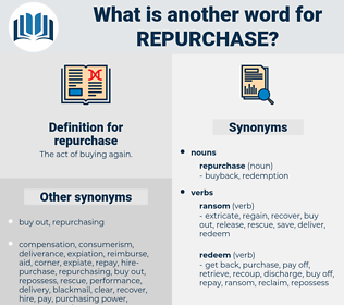 repurchase, synonym repurchase, another word for repurchase, words like repurchase, thesaurus repurchase