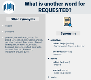 requested, synonym requested, another word for requested, words like requested, thesaurus requested