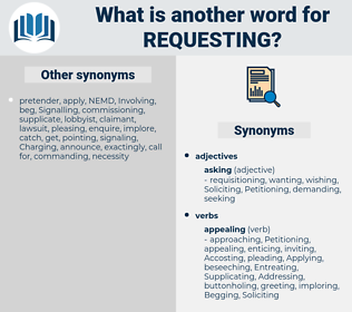 Requesting, synonym Requesting, another word for Requesting, words like Requesting, thesaurus Requesting