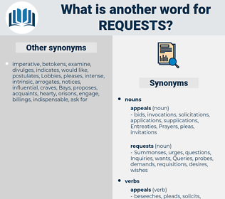 requests, synonym requests, another word for requests, words like requests, thesaurus requests