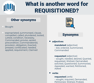 requisitioned, synonym requisitioned, another word for requisitioned, words like requisitioned, thesaurus requisitioned