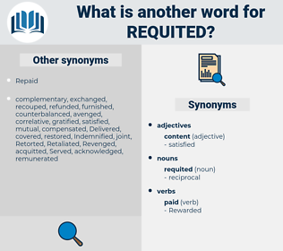 requited, synonym requited, another word for requited, words like requited, thesaurus requited