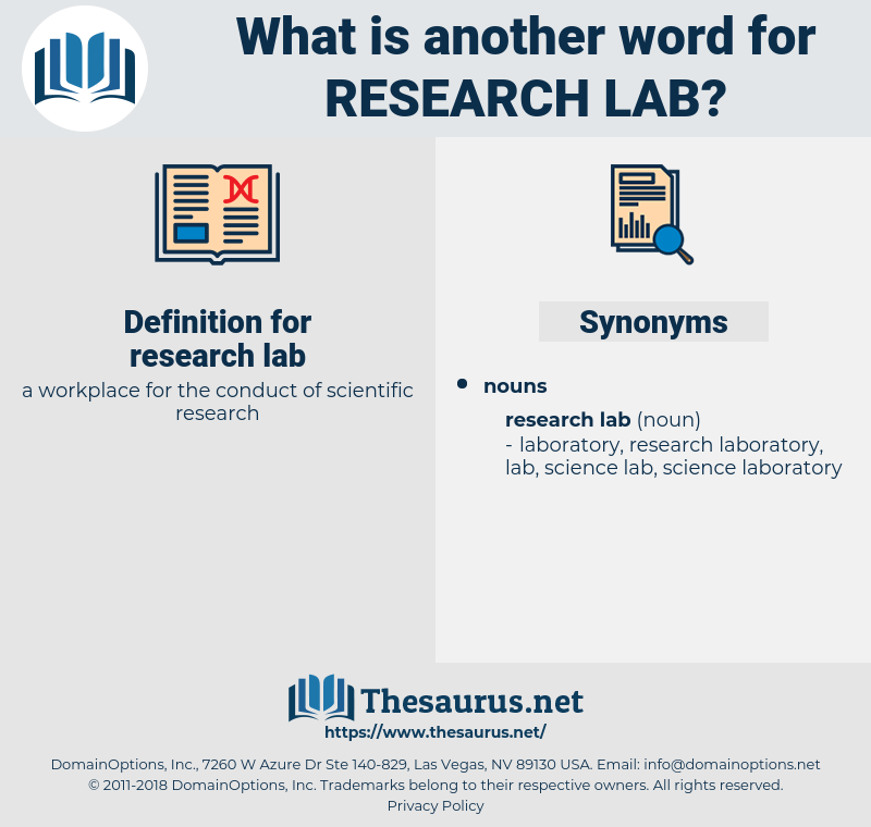 research lab, synonym research lab, another word for research lab, words like research lab, thesaurus research lab