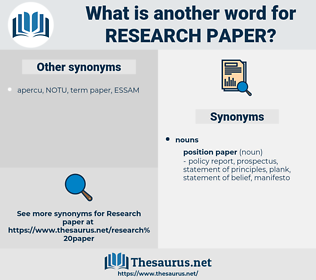 research paper, synonym research paper, another word for research paper, words like research paper, thesaurus research paper