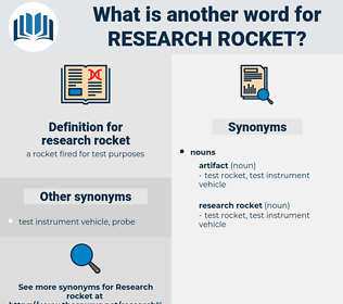 research rocket, synonym research rocket, another word for research rocket, words like research rocket, thesaurus research rocket