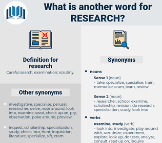 research, synonym research, another word for research, words like research, thesaurus research