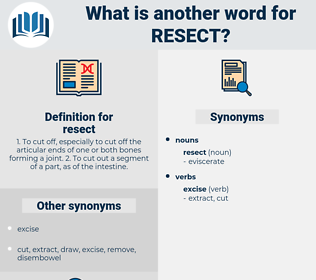 resect, synonym resect, another word for resect, words like resect, thesaurus resect