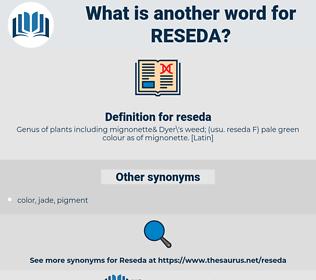 reseda, synonym reseda, another word for reseda, words like reseda, thesaurus reseda