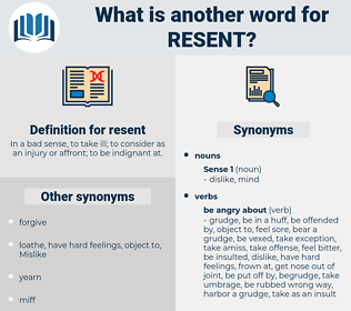 resent, synonym resent, another word for resent, words like resent, thesaurus resent