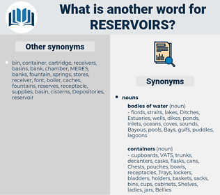 reservoirs, synonym reservoirs, another word for reservoirs, words like reservoirs, thesaurus reservoirs