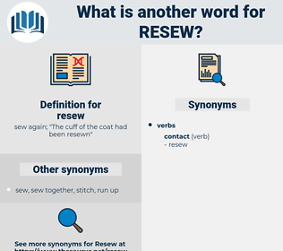 resew, synonym resew, another word for resew, words like resew, thesaurus resew