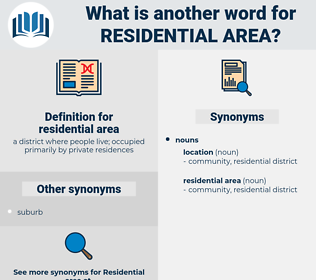 residential area, synonym residential area, another word for residential area, words like residential area, thesaurus residential area