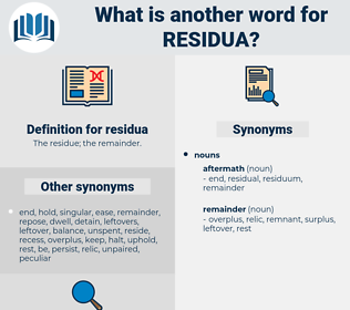 residua, synonym residua, another word for residua, words like residua, thesaurus residua