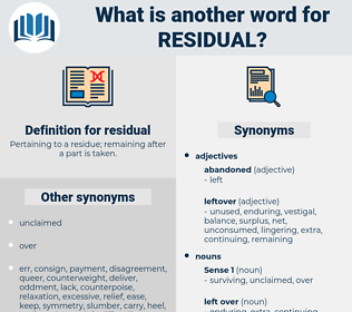 residual, synonym residual, another word for residual, words like residual, thesaurus residual