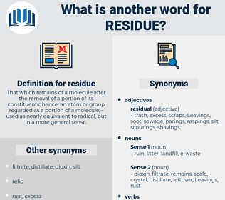 residue, synonym residue, another word for residue, words like residue, thesaurus residue