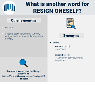 resign oneself, synonym resign oneself, another word for resign oneself, words like resign oneself, thesaurus resign oneself