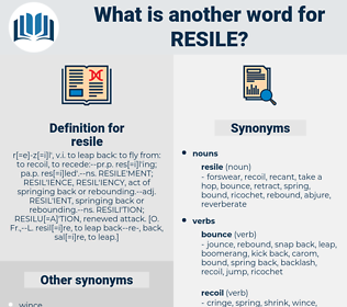 resile, synonym resile, another word for resile, words like resile, thesaurus resile