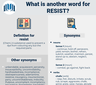 resist, synonym resist, another word for resist, words like resist, thesaurus resist