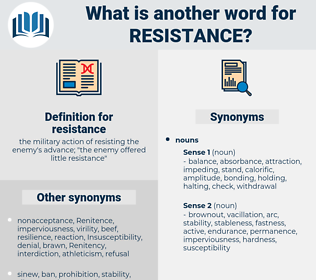 resistance, synonym resistance, another word for resistance, words like resistance, thesaurus resistance
