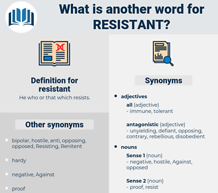 resistant, synonym resistant, another word for resistant, words like resistant, thesaurus resistant