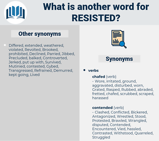 Resisted, synonym Resisted, another word for Resisted, words like Resisted, thesaurus Resisted
