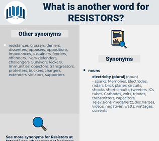 resistors, synonym resistors, another word for resistors, words like resistors, thesaurus resistors
