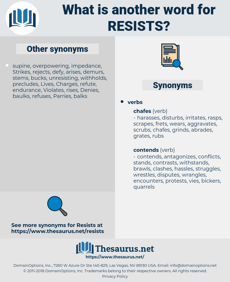 resists, synonym resists, another word for resists, words like resists, thesaurus resists