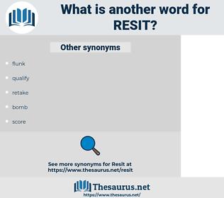 resit, synonym resit, another word for resit, words like resit, thesaurus resit