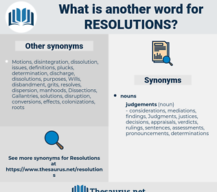 resolutions, synonym resolutions, another word for resolutions, words like resolutions, thesaurus resolutions